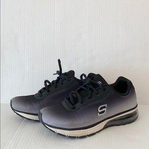 Sport running shoes clear heel Black-gray gradient